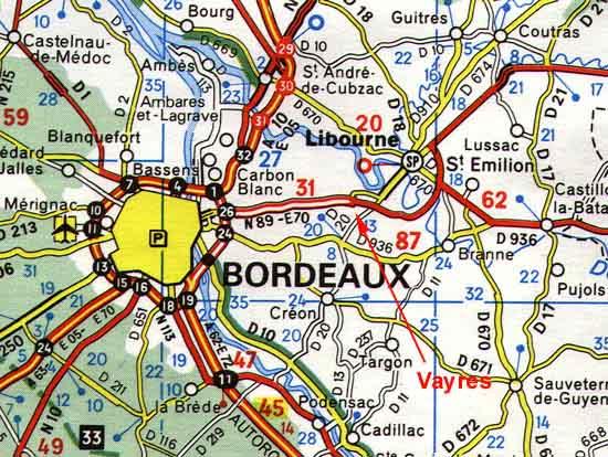 carte bordeaux et environs Carte routière IGN des environs de Bordeaux et de Libourne